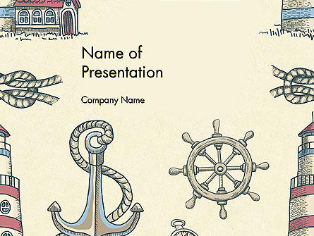 nautical vintage powerpoint template backgrounds 13691