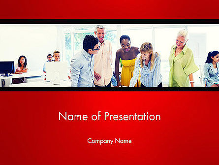 People Working on Project PowerPoint Template, 13692, People — PoweredTemplate.com