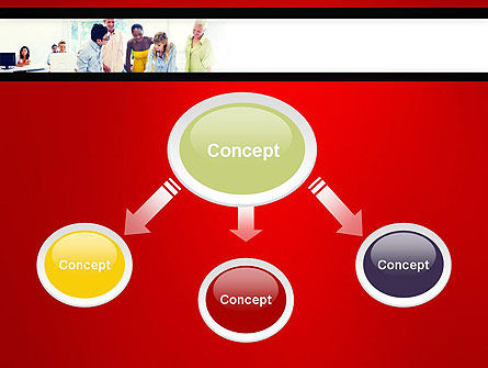 People Working on Project PowerPoint Template, Slide 4, 13692, People — PoweredTemplate.com