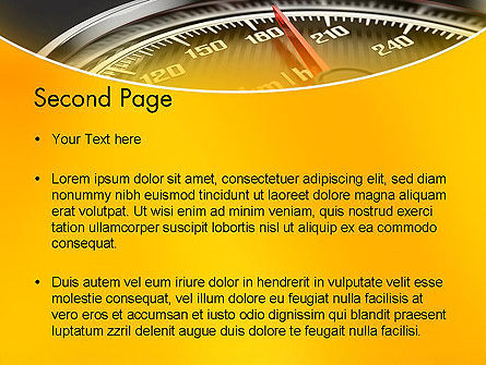 Dangerous Speeding PowerPoint Template Slide 2