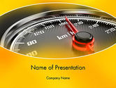 Cars and Transportation: Dangerous Speeding PowerPoint Template #13693