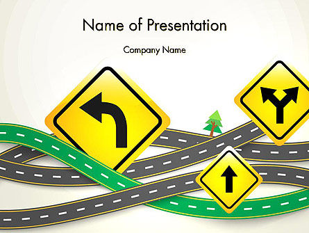 Road Trip PowerPoint Template, 13694, Holiday/Special Occasion — PoweredTemplate.com