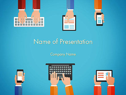 Technology and Science: Digitization PowerPoint Template #13695