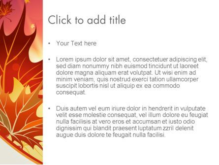 Autumn Leaves and Glow PowerPoint Template, Slide 3, 13699, Nature & Environment — PoweredTemplate.com