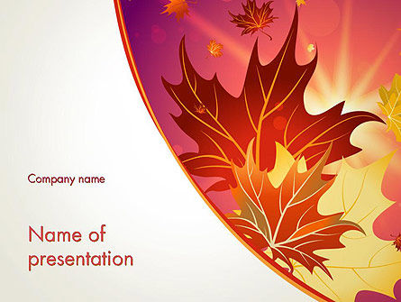 Nature & Environment: Autumn Leaves and Glow PowerPoint Template #13699