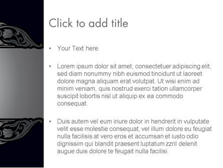 Damask Background PowerPoint Template, Slide 3, 13700, Abstract/Textures — PoweredTemplate.com