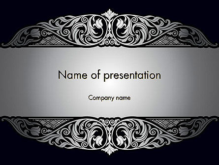 Damask Background PowerPoint Template