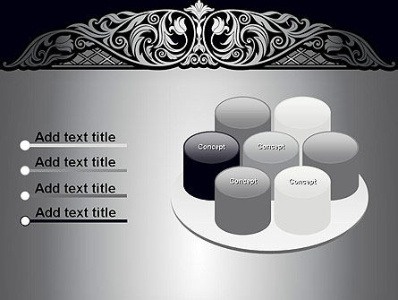 Damask Background PowerPoint Template Slide 12