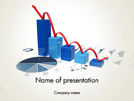 Recession Chart PowerPoint Template, 13701, Financial/Accounting — PoweredTemplate.com