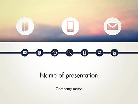 Information Exchange PowerPoint Template, 13702, Telecommunication — PoweredTemplate.com