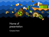 Nature & Environment: Water Pollution Illustration PowerPoint Template #13703