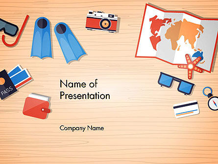 Summer Elements PowerPoint Template, 13705, Holiday/Special Occasion — PoweredTemplate.com