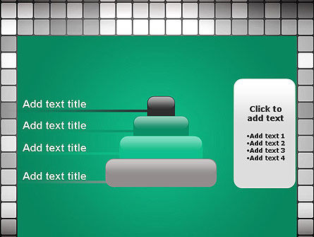 Gray Squares Mosaic PowerPoint Template Slide 8