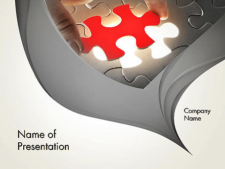 Missing Piece PowerPoint Template, 13707, Business Concepts — PoweredTemplate.com