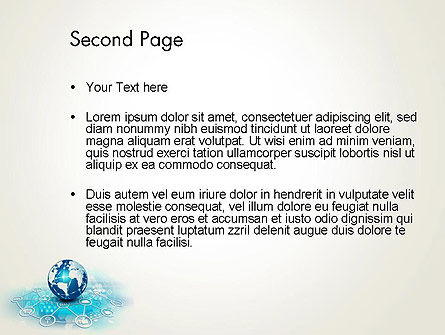 Globe and Communication PowerPoint Template, Slide 2, 13708, Telecommunication — PoweredTemplate.com