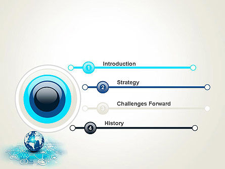 Globe and Communication PowerPoint Template, Slide 3, 13708, Telecommunication — PoweredTemplate.com