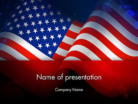 Flag of the United States PowerPoint Template