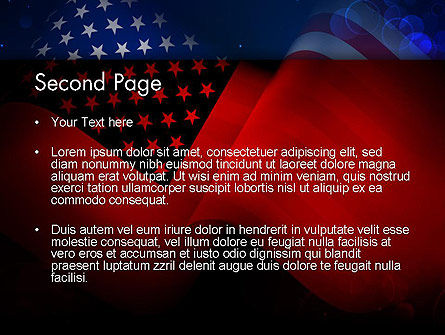 Flag of the United States PowerPoint Template Slide 2