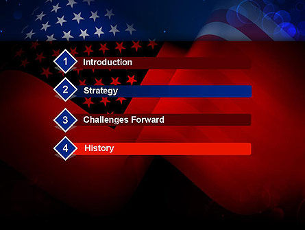 Flag of the United States PowerPoint Template Slide 3