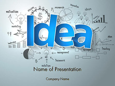 Business Concepts: Big Ideas Inspiration PowerPoint Template #13712