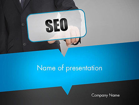 SEO Solution PowerPoint Template, 13714, Careers/Industry — PoweredTemplate.com