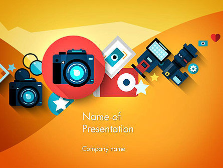 Mirrorless Camera and Equipment PowerPoint Template, 13716, Careers/Industry — PoweredTemplate.com