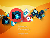 Careers/Industry: Mirrorless Camera and Equipment PowerPoint Template #13716
