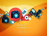 Careers/Industry: Modèle PowerPoint de caméra et équipement sans miroir #13716