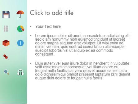 Color Flat Icons PowerPoint Template, Slide 3, 13717, Business Concepts — PoweredTemplate.com