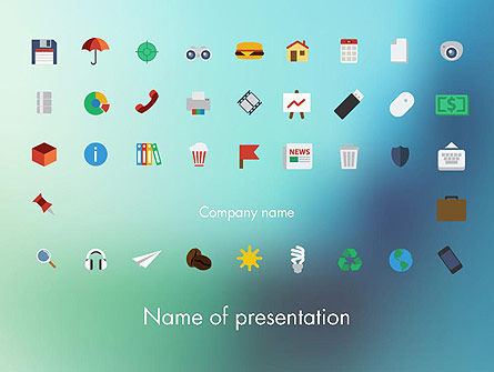 Color Flat Icons PowerPoint Template