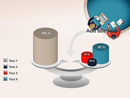 Meeting Top View Flat Design PowerPoint Template Slide 10