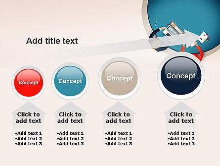 Meeting Top View Flat Design PowerPoint Template Slide 13