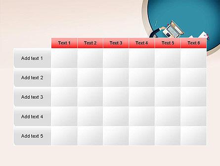 Meeting Top View Flat Design PowerPoint Template Slide 15