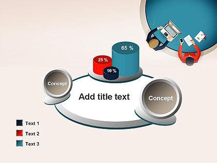 Meeting Top View Flat Design PowerPoint Template Slide 16
