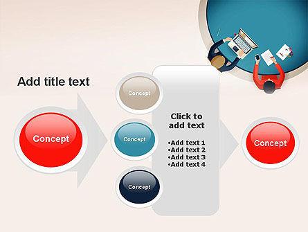 Meeting Top View Flat Design PowerPoint Template Slide 17