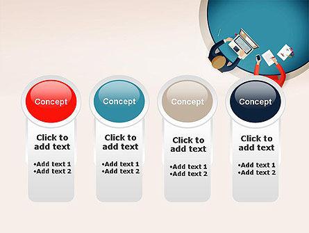 Meeting Top View Flat Design PowerPoint Template Slide 5