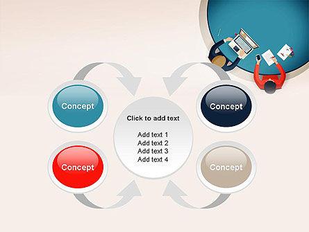 Meeting Top View Flat Design PowerPoint Template Slide 6