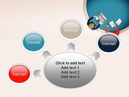 Meeting Top View Flat Design PowerPoint Template Slide 7