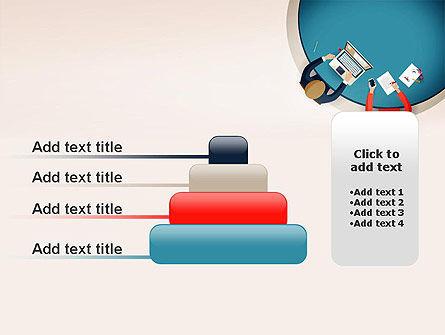 Meeting Top View Flat Design PowerPoint Template Slide 8