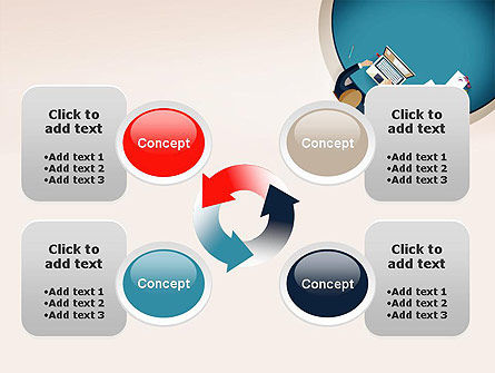 Meeting Top View Flat Design PowerPoint Template Slide 9