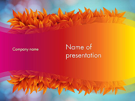 Abstract/Textures: Fall Fantasy PowerPoint Template #13719
