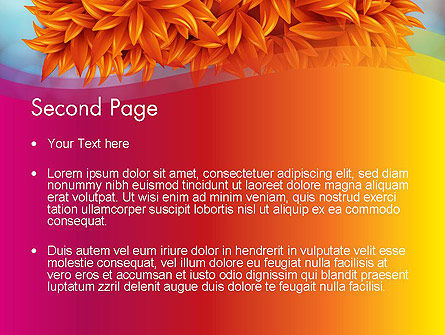 Fall Fantasy PowerPoint Template, Slide 2, 13719, Abstract/Textures — PoweredTemplate.com