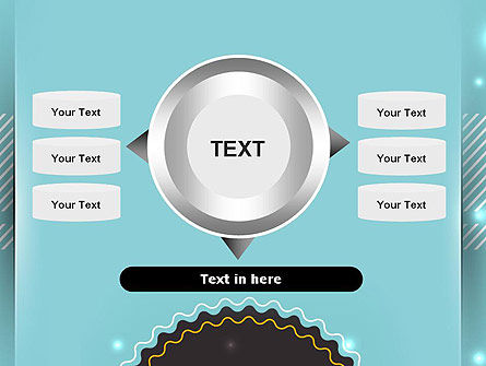 Round Frame and Turquoise PowerPoint Template Slide 12