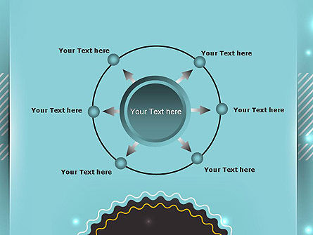 Round Frame and Turquoise PowerPoint Template Slide 7
