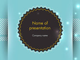 Abstract/Textures: Round Frame and Turquoise PowerPoint Template #13720