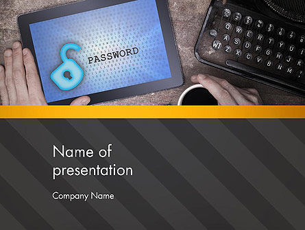 Careers/Industry: Secure Content PowerPoint Template #13721