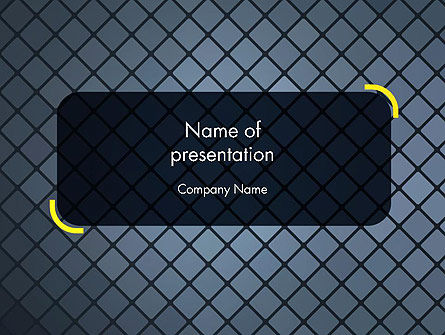 Checkered Metal Surface PowerPoint Template, 13722, Abstract/Textures — PoweredTemplate.com