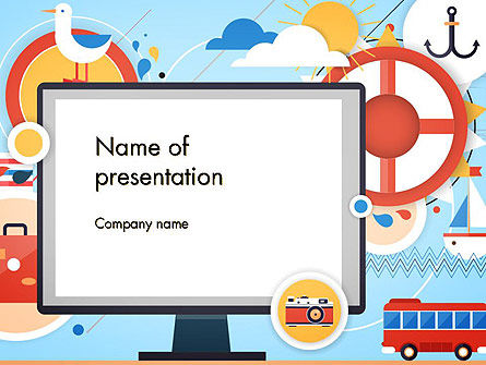 Vacation Background PowerPoint Template, 13723, Holiday/Special Occasion — PoweredTemplate.com