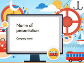 Holiday/Special Occasion: Vacation Background PowerPoint Template #13723