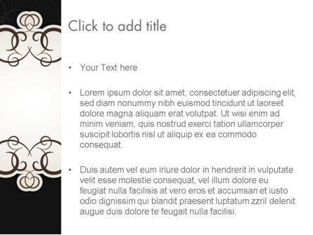 Black and White Quinceanera Frame PowerPoint Template, Slide 3, 13724, Abstract/Textures — PoweredTemplate.com